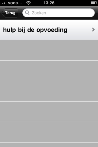 Klikpad 2: Hulp bij de opvoeding